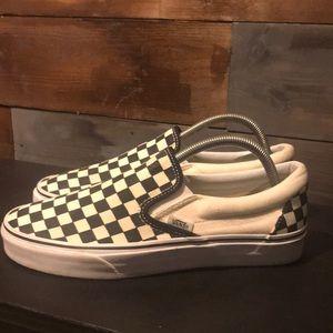 Checkerboard Vans SlipOn